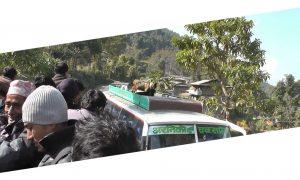 Nepal, Reisen, Bus fahren, Bus, Erfahrungen, Busdach