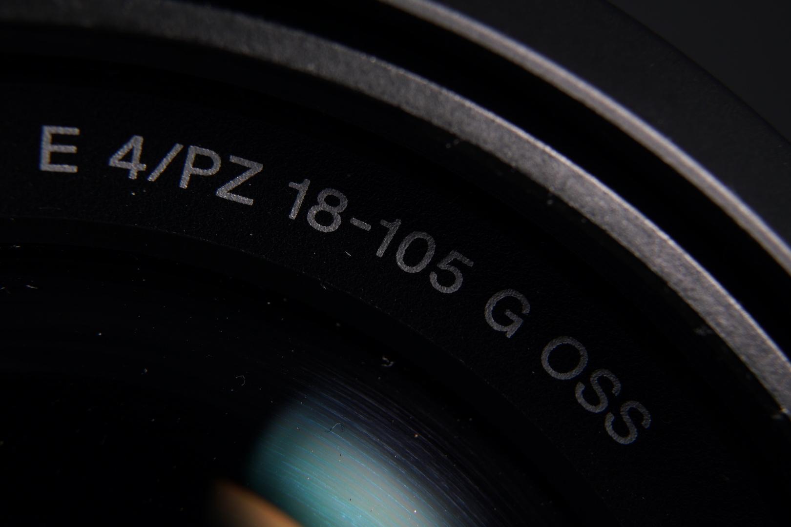 Makro-Aufnahme des Sony SELP18105G E-Mount Tele-Objektiv