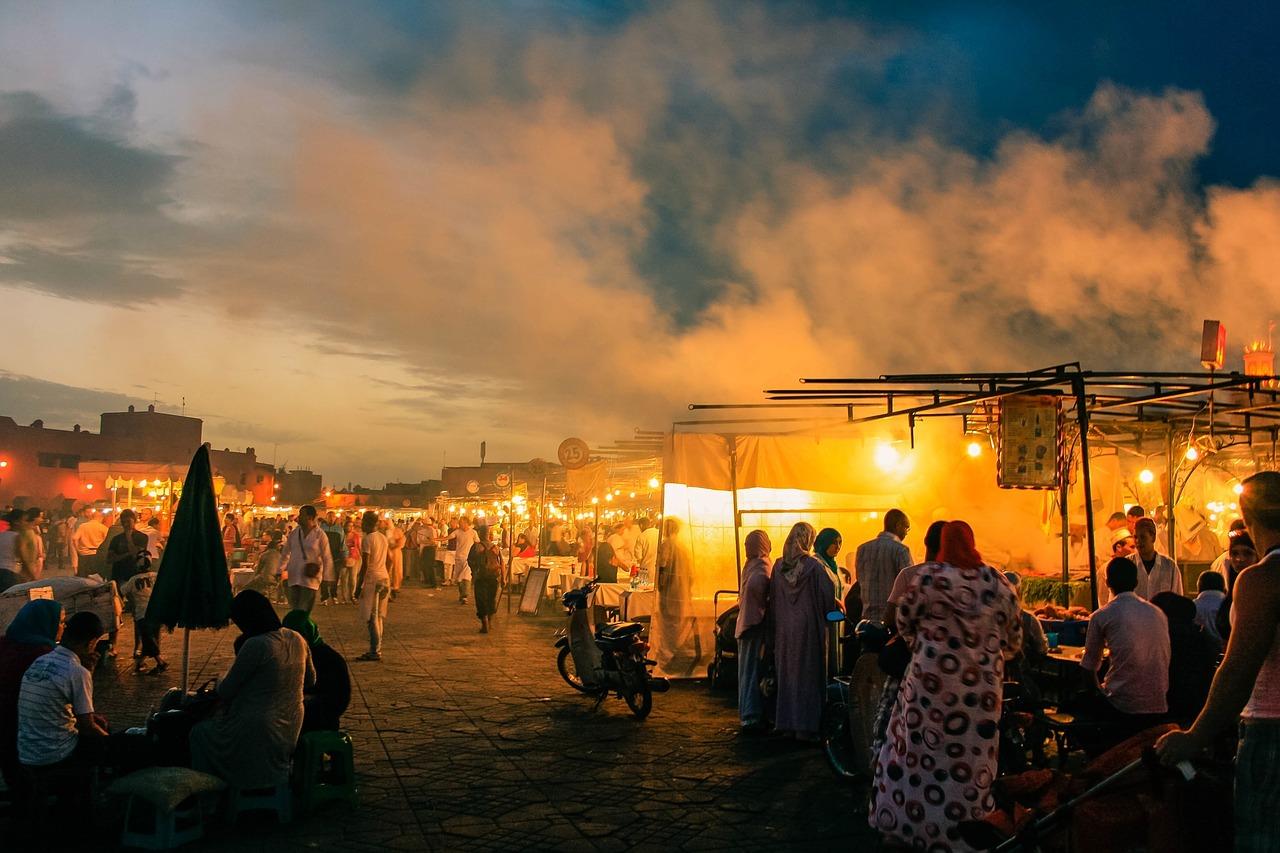 Marokko, Markt, Bazar, Bazaar, Nachtmarkt, Night Market
